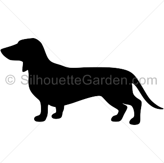 Silhouette clip art download. Dachshund clipart file image stock