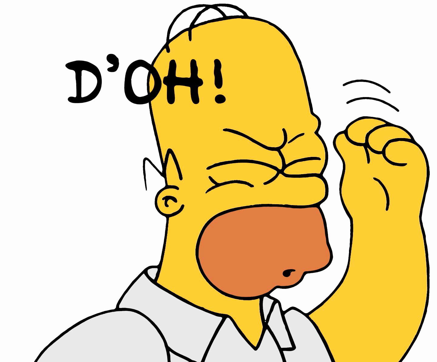 Doh clipart bart simpson. New homer mp