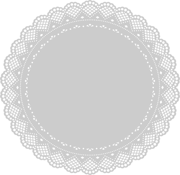 doily transparent white