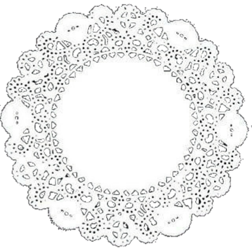 doily transparent circle