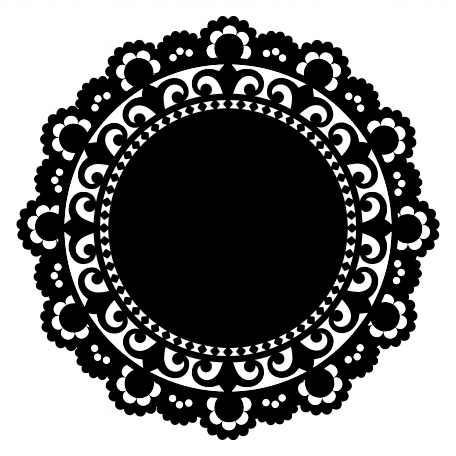 Doily transparent silhouette. Shape by marisa lerin clipart black and white