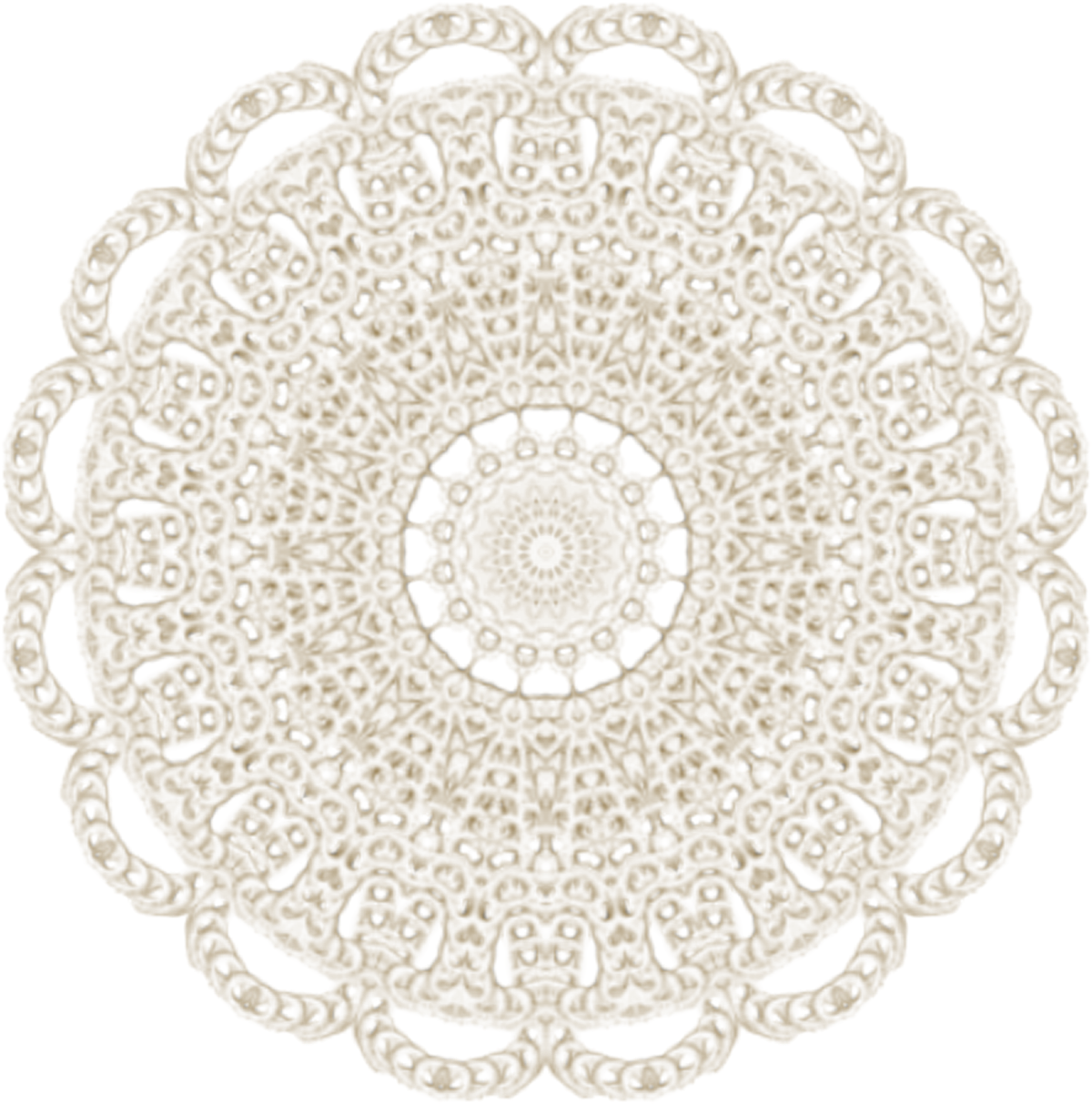 Doily transparent. So she did something