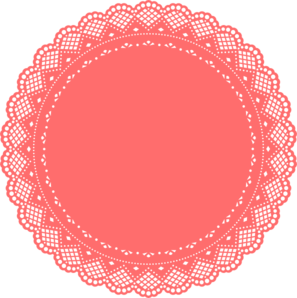 Coral clip art at. Doily transparent clip art royalty free download
