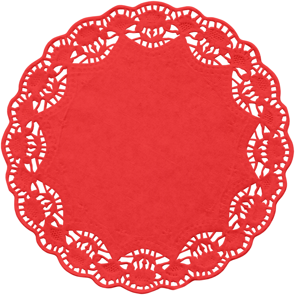 Doily transparent floral paper. Kaagard christmaslights red png