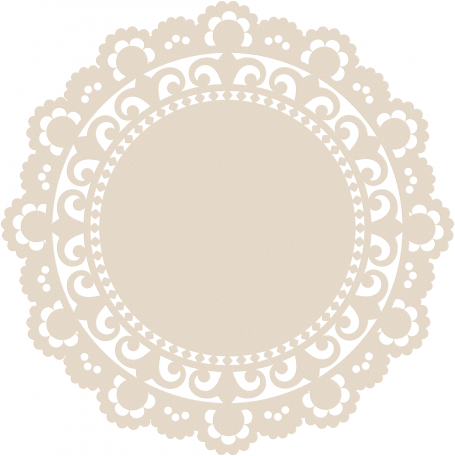 Stencil svg doily. Texture tea cup tag