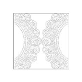 Doily transparent ivory paper. Discount wedding papers lasercut