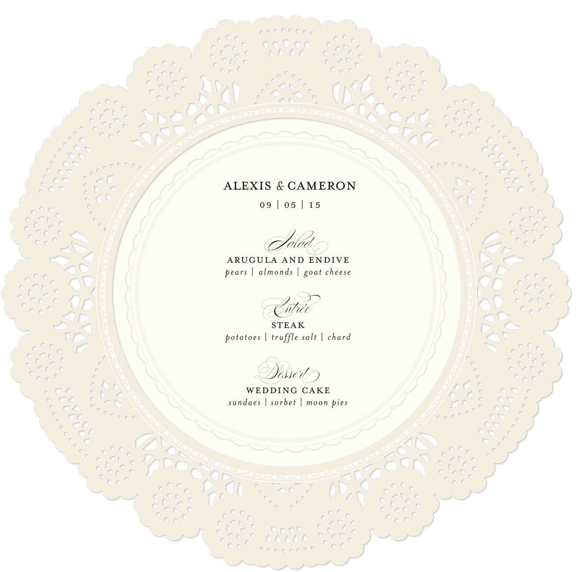 Doily transparent ivory paper. Weddings archives page of