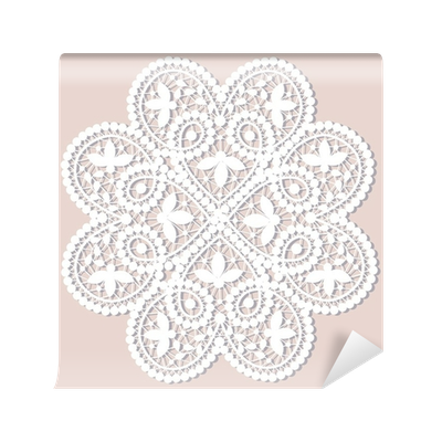 Doily transparent lace. Wall mural pixers we