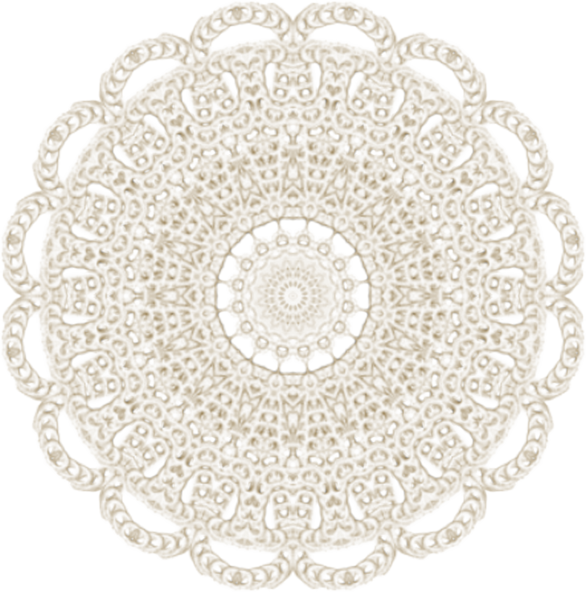 Doily transparent lacy. Lace vector freeuse