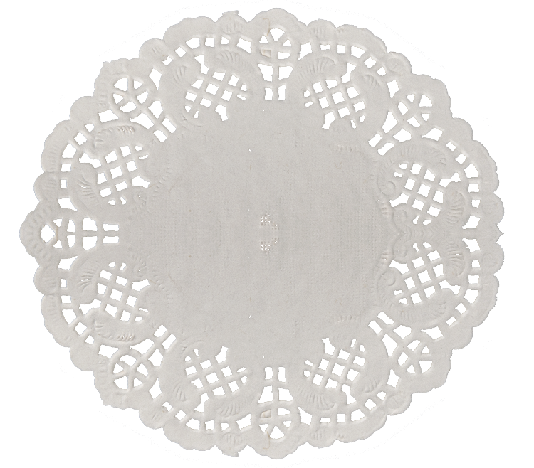 Doily transparent paper. Round white small buy