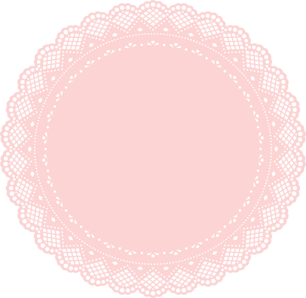 Doily transparent pink. Lace vector freeuse