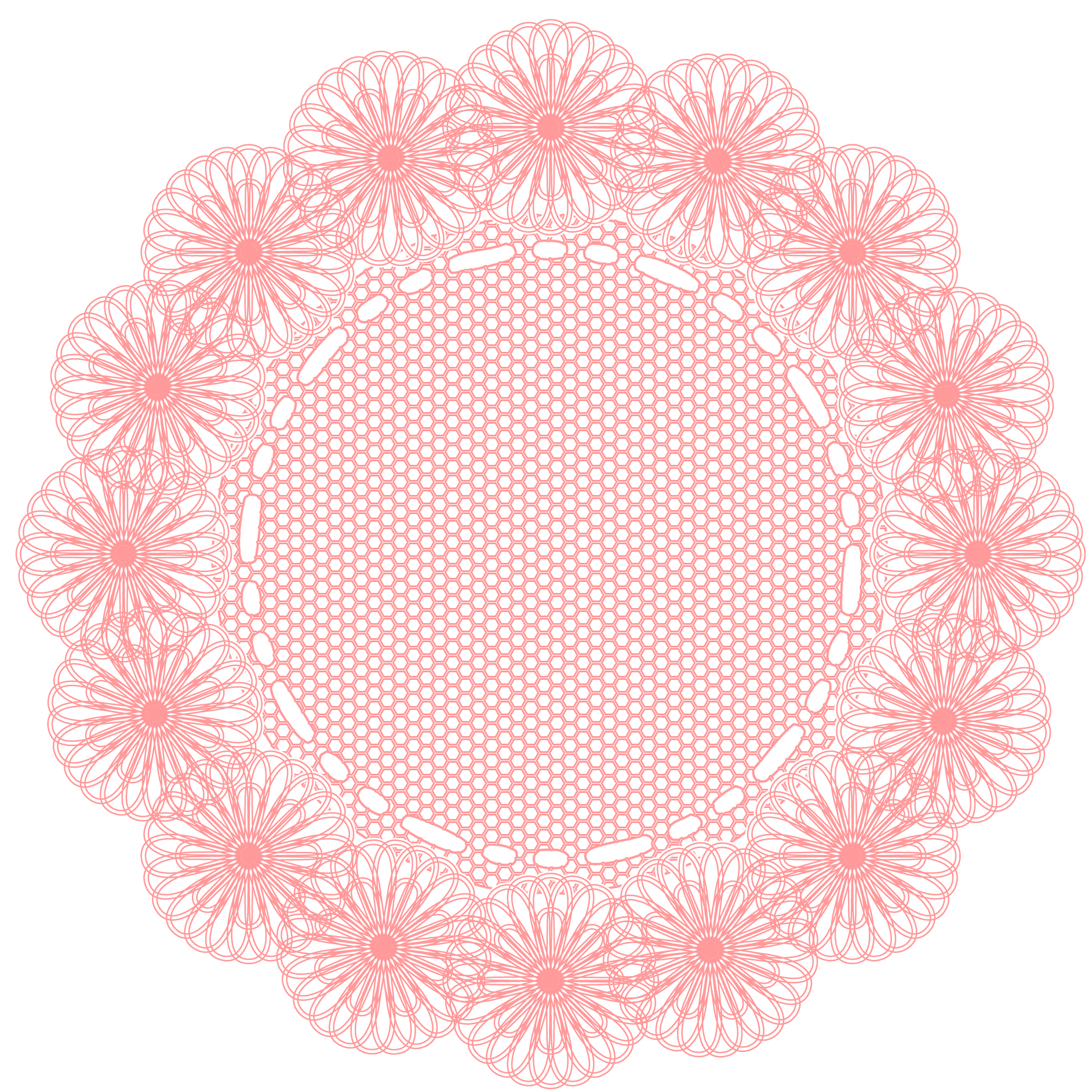 Doily transparent pink. This pack includes digital
