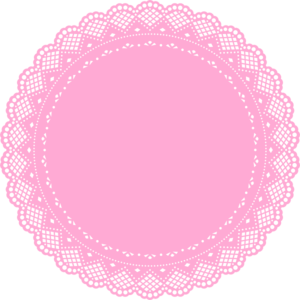 Doily transparent pink. Collection of free doyly