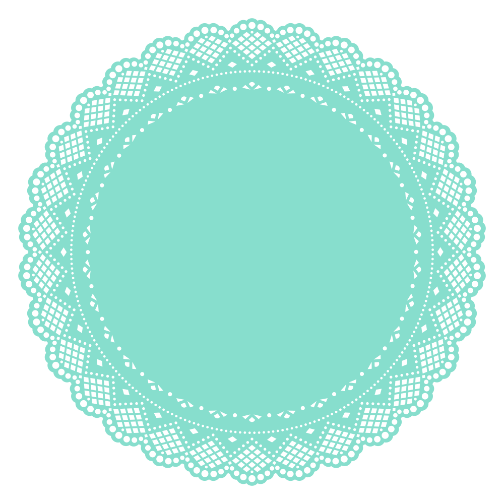 Doily transparent rectangle. Onlinelabels clip art cake