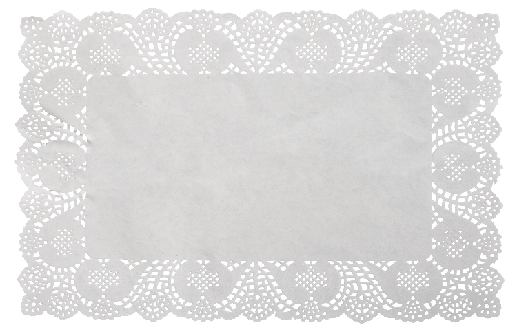 Doily transparent rectangle. Alnawar corner browse paper