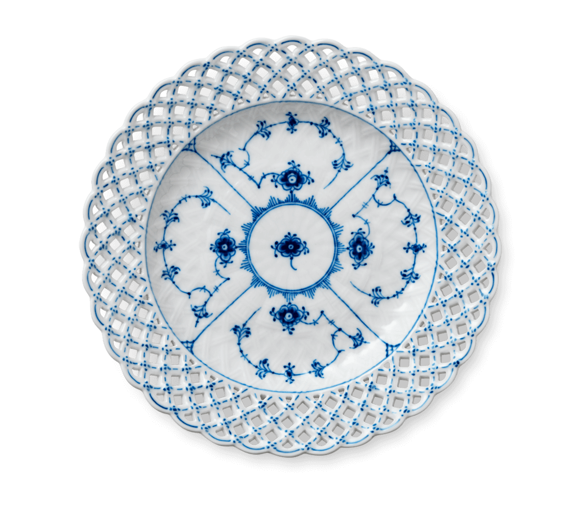 industry blue fluted plates - HD1130×1000