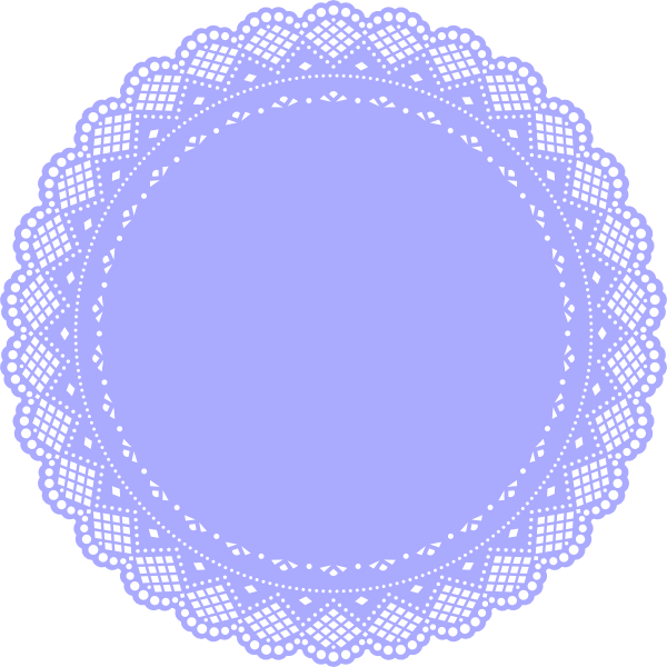 Doily transparent royal lace. Collection of free doyly