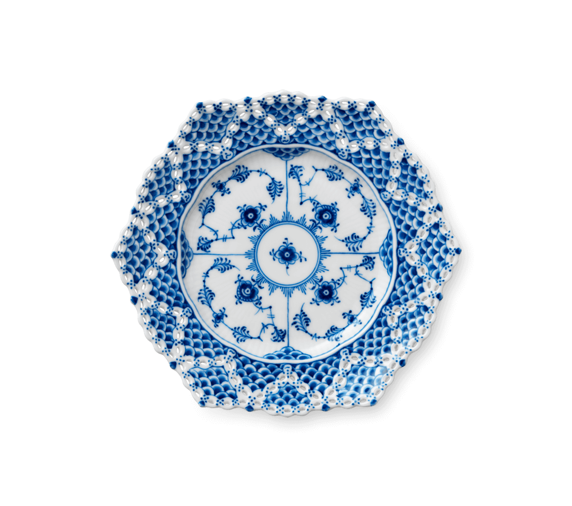 Doily transparent royal lace. Plate with double border