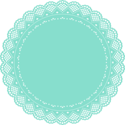 Doily transparent silhouette. Collection of free doyly