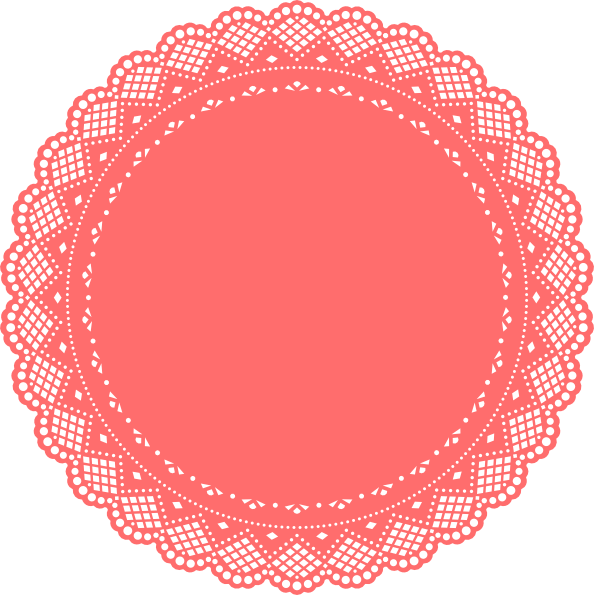 Doily transparent simple. Collection of free doyly
