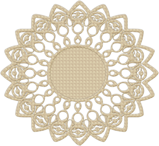 Doily transparent simple. Easy crochet patterns and