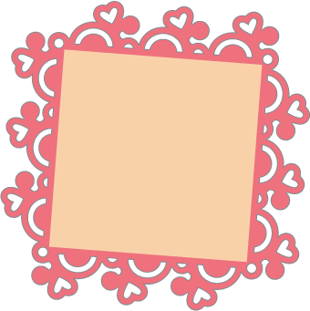 Doily transparent square. Free svg file sure