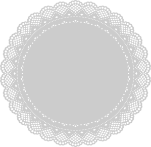 Doily transparent vector. Clip art at clker black and white library