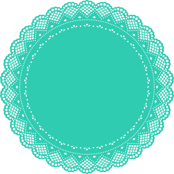 Doily transparent vector. Collection of free doyly