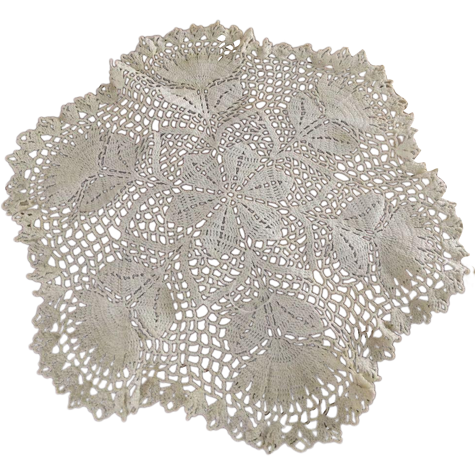 Doily transparent victorian. With thistle sold ruby
