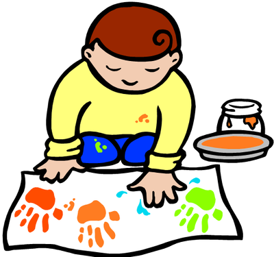 Toddler clipart indoor. Free making crafts cliparts