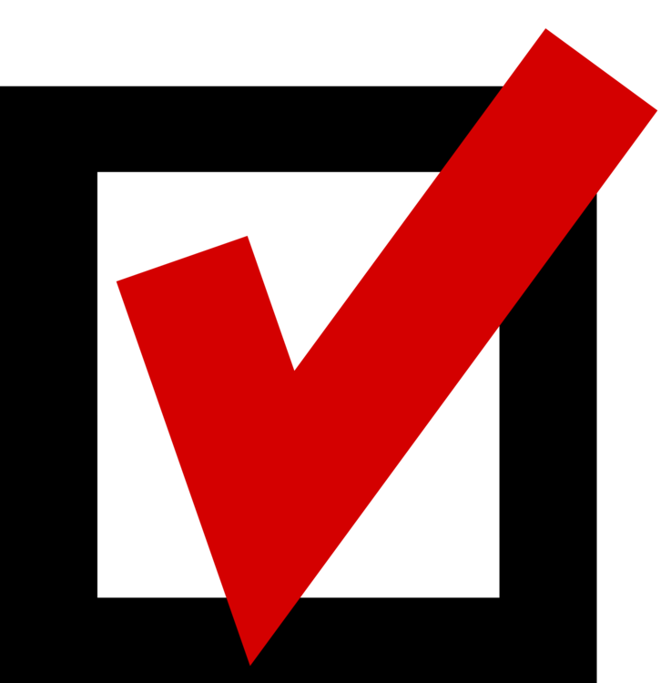 Mark clipart checkbox. Check computer icons document