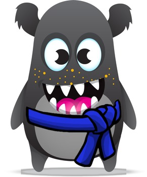 Dojo clipart brown monster. Class karate avatars by picture