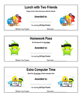 Dojo clipart reward. Class rewards chart and