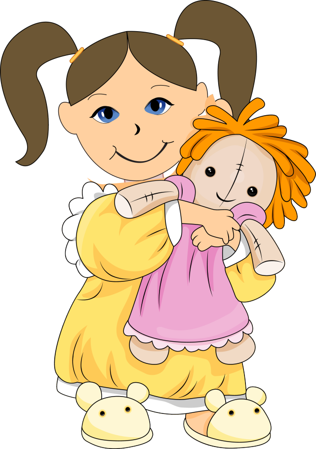 Dolls clipart girl thing. Clip art playing with