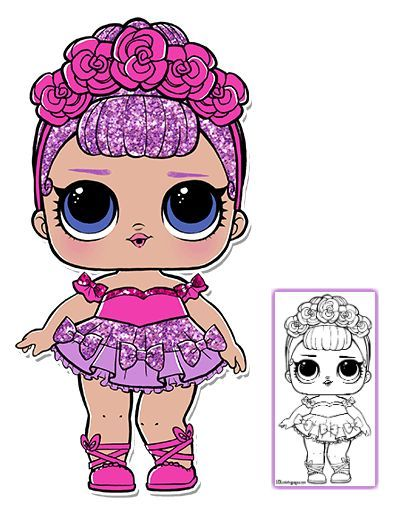 Doll clipart coloring. Lol surprise pages page