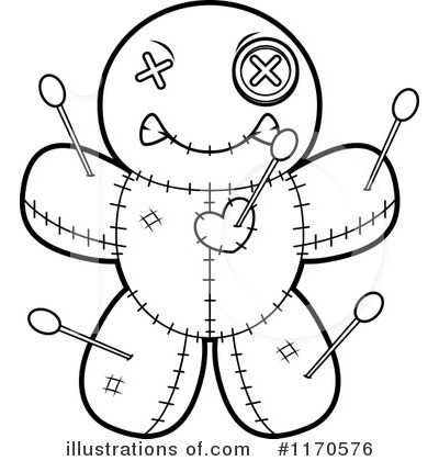 Doll clipart coloring. Voodoo pages illustration cory