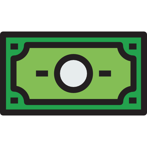 Dollar bill icon png. Currency cash business exchange