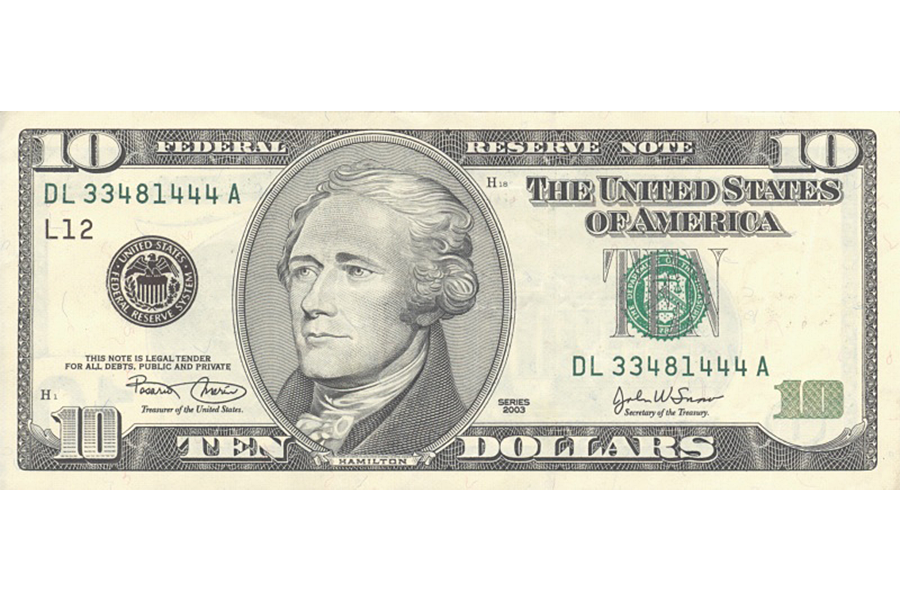 Dollar bill png. Alexander hamilton safe as