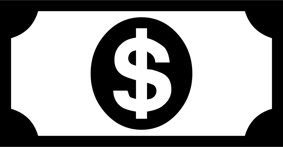 Dollar bill sign png. Svg icon free download