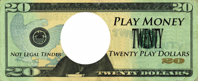 Dollar bill template png. Play money essential