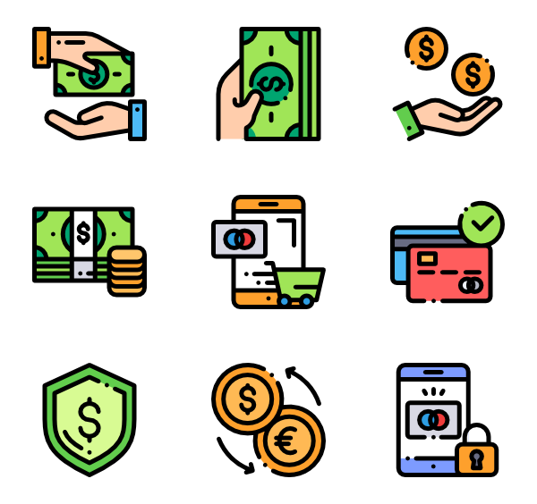 Dollar bill vector png. Icons free payment view