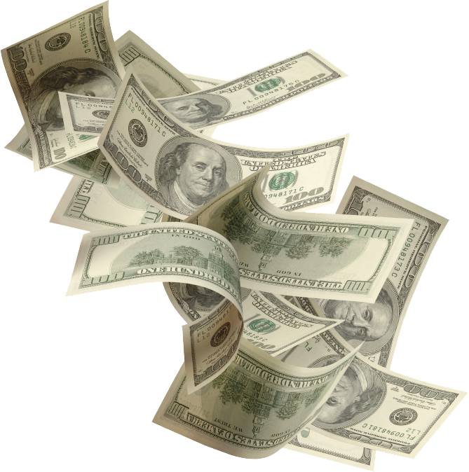 Dollar bills flying png. Money transparent pictures free