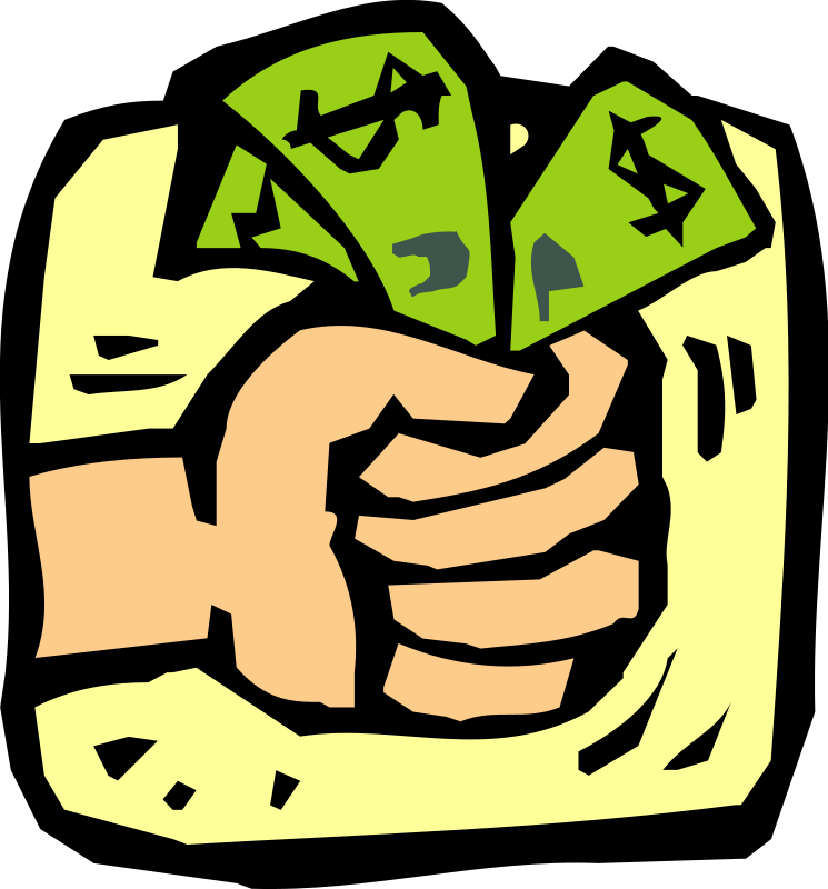 Dollar clipart fist full money. Clip art pictures of