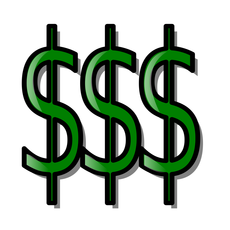 Dollar clipart fist full money. Free stock photo illustration