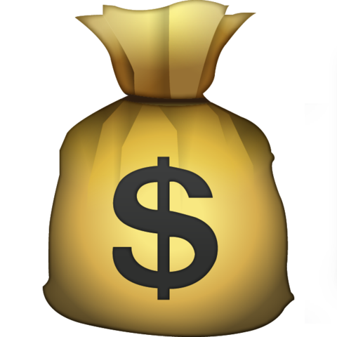 Dollar clipart fist full money. Download bag emoji icon