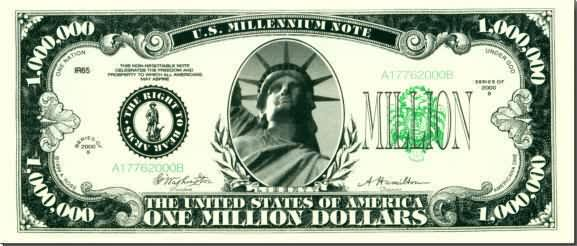 Money clipart million dollar. Bill