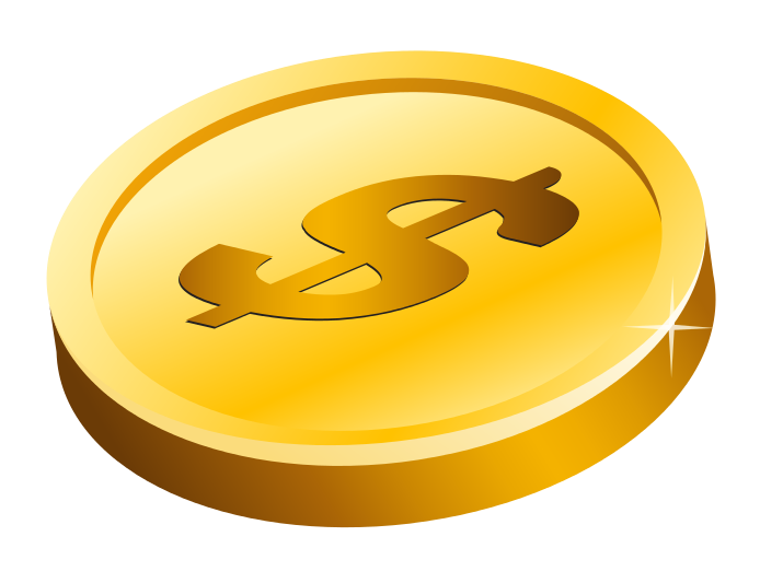 Blank gold coin png. Free picture download clip
