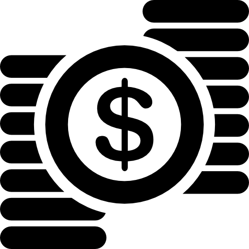 Dollar clipart pile coin. Sign and piles of