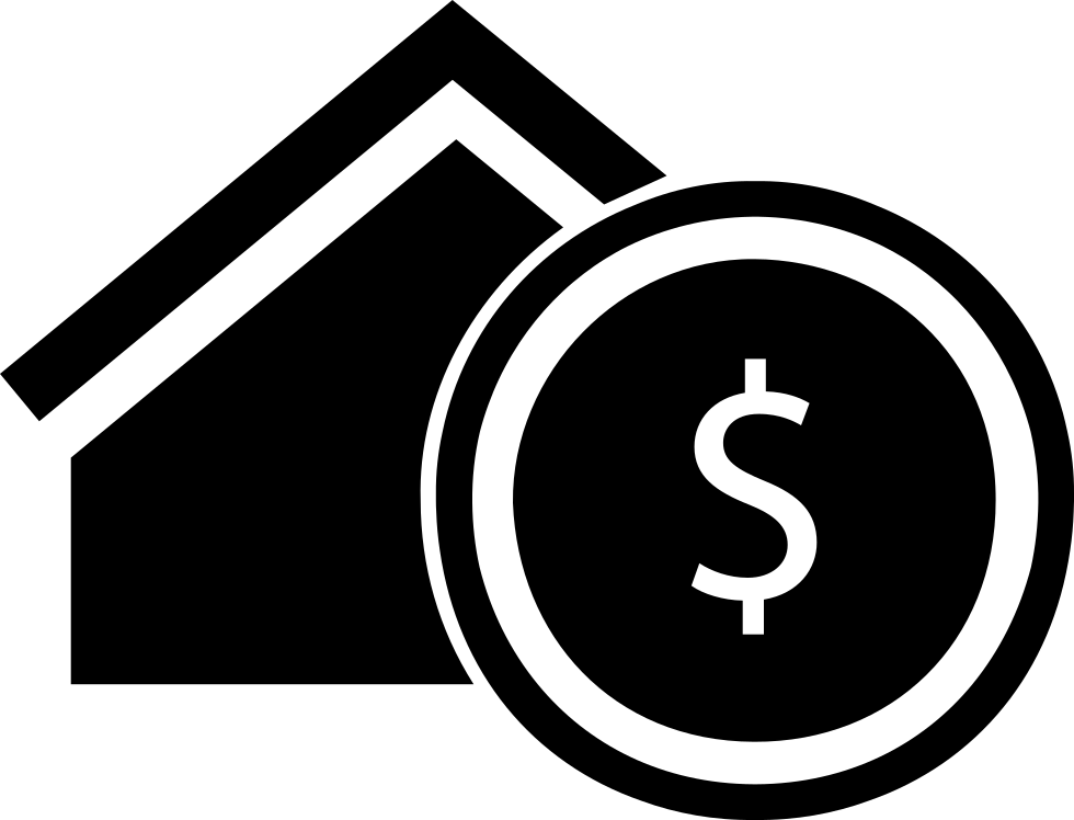 Dollar house png. Real estate commercial symbol
