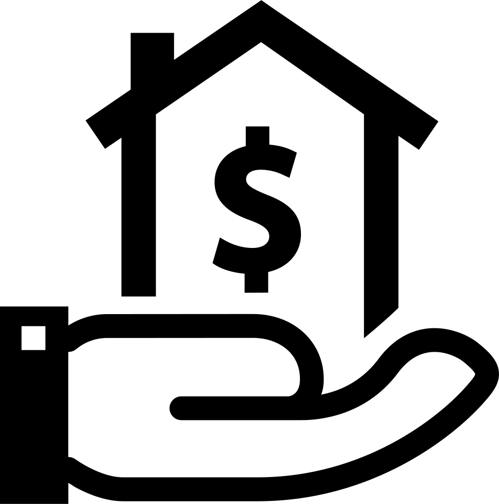 Dollar house png. With sign on a